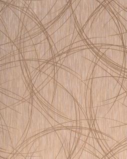 Grafik Tapete EDEM 1021-13 Vinyltapete grafisches Linien-Muster Risse Struktur Kreise metallic look braun