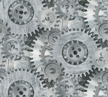 Natur Tapete Profhome 358591-GU Vliestapete glatt mit geometrischen Formen matt grau silber schwarz 5, 33 m2