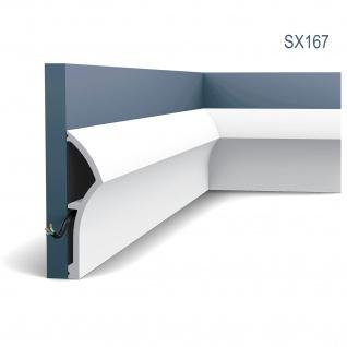Stuck Sockelleiste Orac Decor SX167 Dune Ulf Moritz LUXXUS Profilleiste Zierleiste Leiste Bodenleiste stoßfest 2 Meter