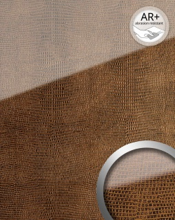 Wandpaneel Glas-Optik WallFace 16981 LEGUAN Luxus Dekor Wandverkleidung abriebfest selbstklebend kupfer braun | 2, 60 qm