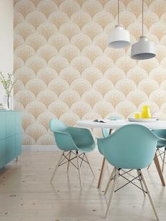 Stein Kacheln Tapete Profhome BA220043-DI heißgeprägte Vliestapete geprägt mit Mosaik Muster glänzend beige weiß 5, 33 m2 - Vorschau 2