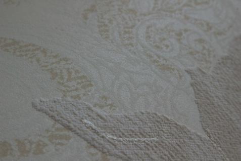 Blumen Tapete Atlas TEM-5109-1 Vliestapete strukturiert mit Paisley Muster schimmernd creme perl-weiß hell-elfenbein grau-beige 7, 035 m2 - Vorschau 2