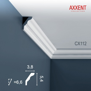 Zierleiste Profilleiste Orac Decor CX112 AXXENT Stuck Profil Eckleiste Wand Leiste Decken Leiste | 2 Meter