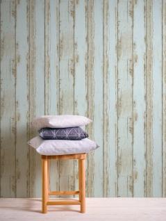 Holz Tapete Profhome 368933-GU Vliestapete glatt in Holzoptik matt blau braun schwarz 5, 33 m2 - Vorschau 3