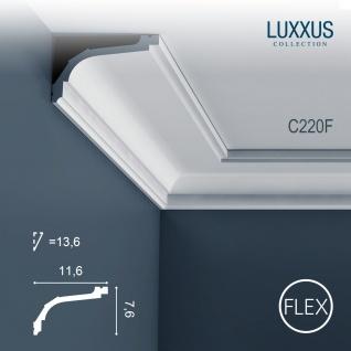 Stuckleiste Orac Decor C220F LUXXUS flexible Eckleiste Zierleiste Decken Stuck Dekor Profil Gesims Dekorleiste 2 Meter