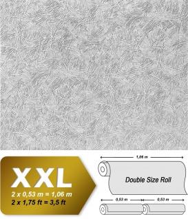 Struktur Tapete zum Überstreichen EDEM 308-60 25 Meter streichbare Vlies-Tapete dekor-putz-optik weiß | 26, 50 qm - Vorschau 2