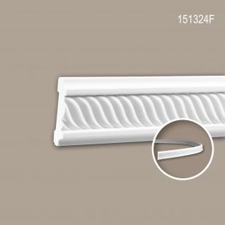 Wand- und Friesleiste PROFHOME 151324F Stuckleiste Flexible Leiste Zierleiste Neo-Empire-Stil weiß 2 m