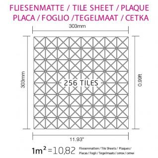Mosaik Fliese massiv Metall Edelstahl gebürstet in grau 1, 6mm stark ALLOY Deco-S-S-B 0, 92 m2 - Vorschau 5