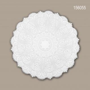Rosette PROFHOME 156055 Zierelement Deckenelement Rokoko Barock Stil weiß Ø 75, 2 cm