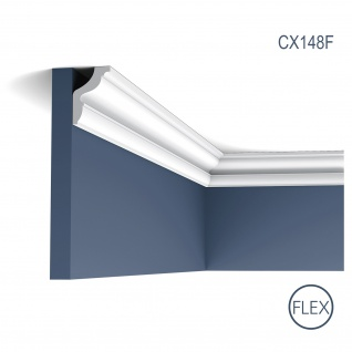 Stuck Leiste Eckleiste Orac Decor CX148F AXXENT flexible Zierleiste Profilleiste Wand Leiste Decken Leiste 2 Meter