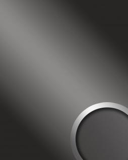 Wandpaneel Spiegel Dekor Glanz-Optik WallFace 13810 DECO FASHION Design Wandverkleidung selbstklebend grau | 2, 60 qm