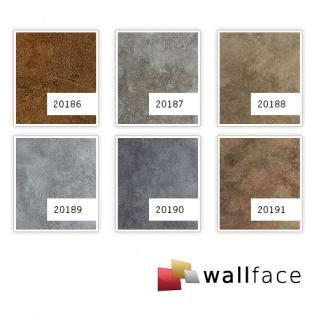 Wandpaneel Metalloptik WallFace 20189 OXIDIZED Platin Wandverkleidung im Rost-Vintage Look selbstklebend abriebfest platin grau 2, 6 m2 - Vorschau 3