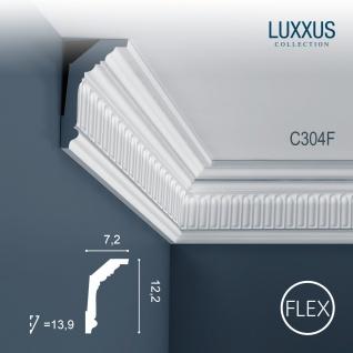Eckleiste Orac Decor C304F LUXXUS flexible Leiste Zierleiste Deckenleiste Stuckgesims Wand Dekor Leiste | 2 Meter