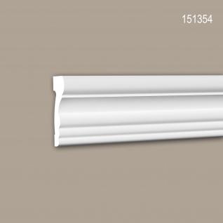 Wand- und Friesleiste PROFHOME 151354 Stuckleiste Zierleiste Wandleiste Neo-Klassizismus-Stil weiß 2 m