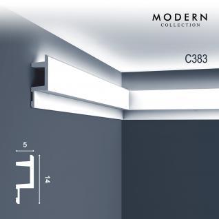 Eckleiste Orac Decor C383 MODERN L3 Indirekte Beleuchtung Zierleiste Modernes Design weiß 2m