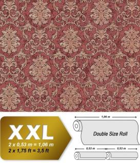 Barock Tapete EDEM 6001-94 Vliestapete geprägt mit Ornamenten glitzernd rot kupfer gold 10, 65 m2