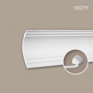 Eckleiste PROFHOME 150271F Stuckleiste Flexible Leiste Zierleiste Modernes Design weiß 2 m