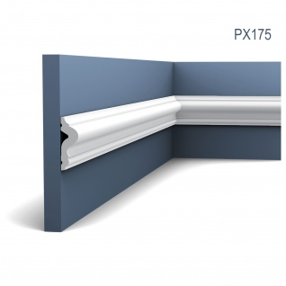Wand- und Friesleiste Orac Decor PX175 AXXENT Zierleiste Stuckleiste Modernes Design weiß 2m