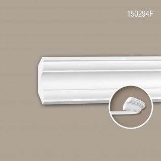 Eckleiste PROFHOME 150294F Stuckleiste Flexible Leiste Zierleiste Neo-Klassizismus-Stil weiß 2 m