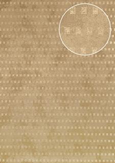 Grafik Tapete Atlas ICO-1705-2 Vliestapete glatt mit abstraktem Muster schimmernd beige gold 5, 33 m2 - Vorschau 1