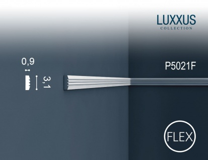 Friesleiste Stuck Orac Decor P5021F LUXXUS flexible Wandleiste Wandprofil Profil Dekor Leiste Zierleiste Wand | 2 Meter