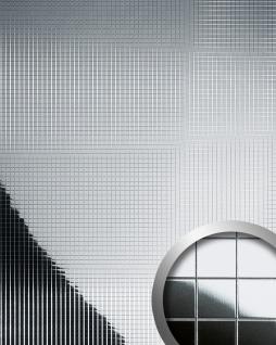 Wandpaneel Mosaik Paneel spiegelnd selbstklebend WallFace 14239 M-Style Spiegel Wandverkleidung Design silber 2, 60 qm