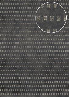 Grafik Tapete Atlas ICO-5071-5 Vliestapete glatt mit abstraktem Muster schimmernd anthrazit bronze grau 7, 035 m2