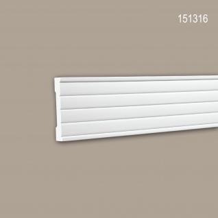 Wand- und Friesleiste PROFHOME 151316 Stuckleiste Zierleiste Wandleiste Modernes Design weiß 2 m