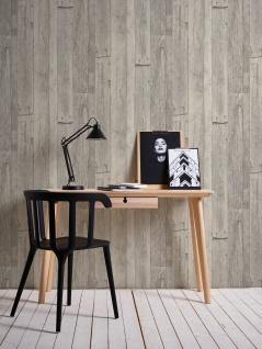 Holz Tapete Profhome 959311-GU Vliestapete glatt in Holzoptik matt grau weiß beige 5, 33 m2 - Vorschau 5