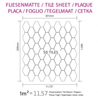 Mosaik Fliese massiv Metall Edelstahl hochglänzend in grau 1, 6mm stark ALLOY Karma-S-S-M Designed by Karim Rashid 0, 86 m2 - Vorschau 4