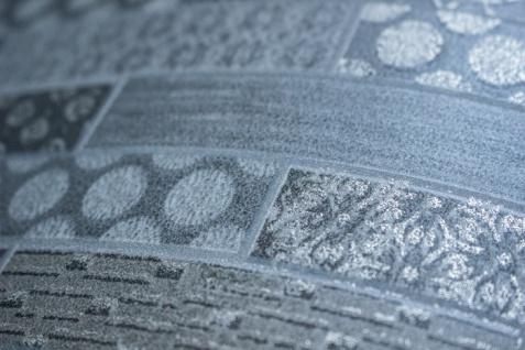 Ethno Tapete Atlas ICO-5075-2 Vliestapete glatt mit Kachelmuster schimmernd grau silber braun 7, 035 m2 - Vorschau 2