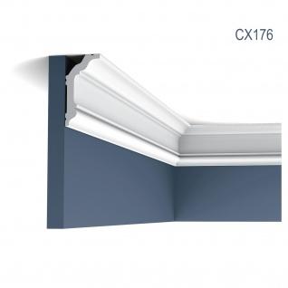 Eckleiste Orac Decor CX176 AXXENT Stuckleiste Zierleiste Zeitloses Klassisches Design weiß 2m