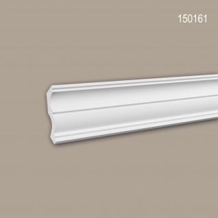 Eckleiste PROFHOME 150161 Zierleiste Stuckleiste Neo-Klassizismus-Stil weiß 2 m