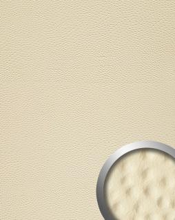 Wandpaneel Strauß Leder 3D WallFace 13401 OSTRICH Blickfang Dekor selbstklebend Tapete Verkleidung Creme 2, 60 qm