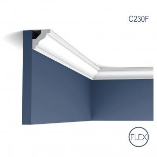 Stuckleiste Orac Decor C230F LUXXUS flexible Eckleiste Zierleiste Decken Stuck Dekor Profil Gesims Dekorleiste 2 Meter