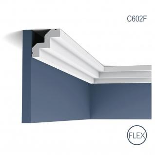 Stuck Zierleiste Orac Decor C602F LUXXUS flexible Leiste Eckleiste leiste Dekorleiste Gesims Profilleiste 2 Meter