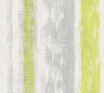 Stein Kacheln Tapete Profhome 944251-GU Vliestapete glatt in Steinoptik matt grau grün gelb 5, 33 m2
