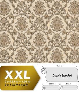 Barock Tapete EDEM 6001-91 Vliestapete geprägt mit Ornamenten glitzernd creme beige gold 10, 65 m2