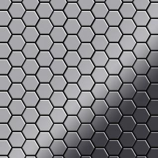 Mosaik Fliese massiv Metall Edelstahl hochglänzend in grau 1, 6mm stark ALLOY Honey-S-S-M 0, 92 m2