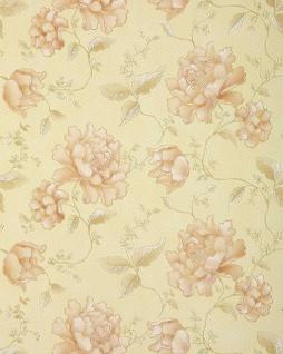 3D Blumentapete Floral Tapete EDEM 748-31 3D Luxus TAPETE beige elfenbein platin gold hell-rosa blumen