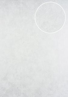 Ton-in-Ton Tapete ATLAS HER-5137-1 Vliestapete geprägt im Shabby Chic Stil schimmernd weiß perl-weiß 7, 035 m2
