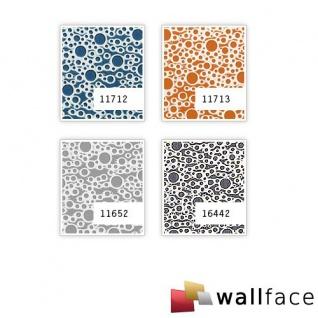 Wandpaneel Wandverkleidung Kunststoff WallFace 11713 BUBBLE Design Platte Blickfang Dekor selbstklebende Tapete orange silber 2, 60 qm - Vorschau 4