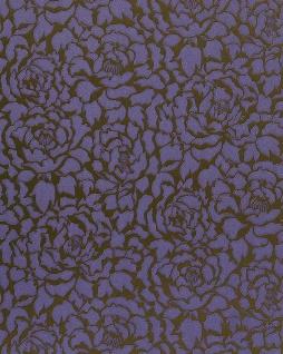 Blumen Tapete EDEM 830-29 Deluxe kunstvolle florale Struktur Blumentapete dunkel-lila violett-blau bronze 70 cm