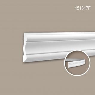 Wand- und Friesleiste PROFHOME 151317F Stuckleiste Flexible Leiste Zierleiste Neo-Klassizismus-Stil weiß 2 m
