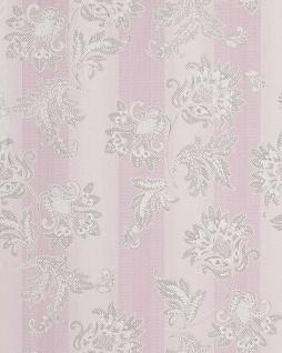 Blumen Tapete EDEM 084-26 Landhaus Blumentapete Floral Designer Barock Vinyltapete violett flieder weiß silber 5, 33 qm