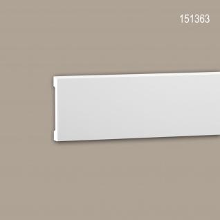 Wand- und Friesleiste PROFHOME 151363 Stuckleiste Zierleiste Friesleiste Modernes Design weiß 2 m
