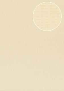 Struktur Tapete Atlas COL-527-5 Vliestapete strukturiert unifarben schimmernd creme elfenbein beige 5, 33 m2