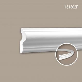Wand- und Friesleiste PROFHOME 151302F Stuckleiste Flexible Leiste Zierleiste Neo-Klassizismus-Stil weiß 2 m