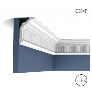 Eckleiste Orac Decor C304F LUXXUS flexible Leiste Zierleiste Deckenleiste Stuckgesims Wand Dekor Leiste 2 Meter