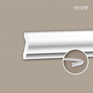 Wand- und Friesleiste PROFHOME 151375F Stuckleiste Flexible Leiste Zierleiste Neo-Klassizismus-Stil weiß 2 m